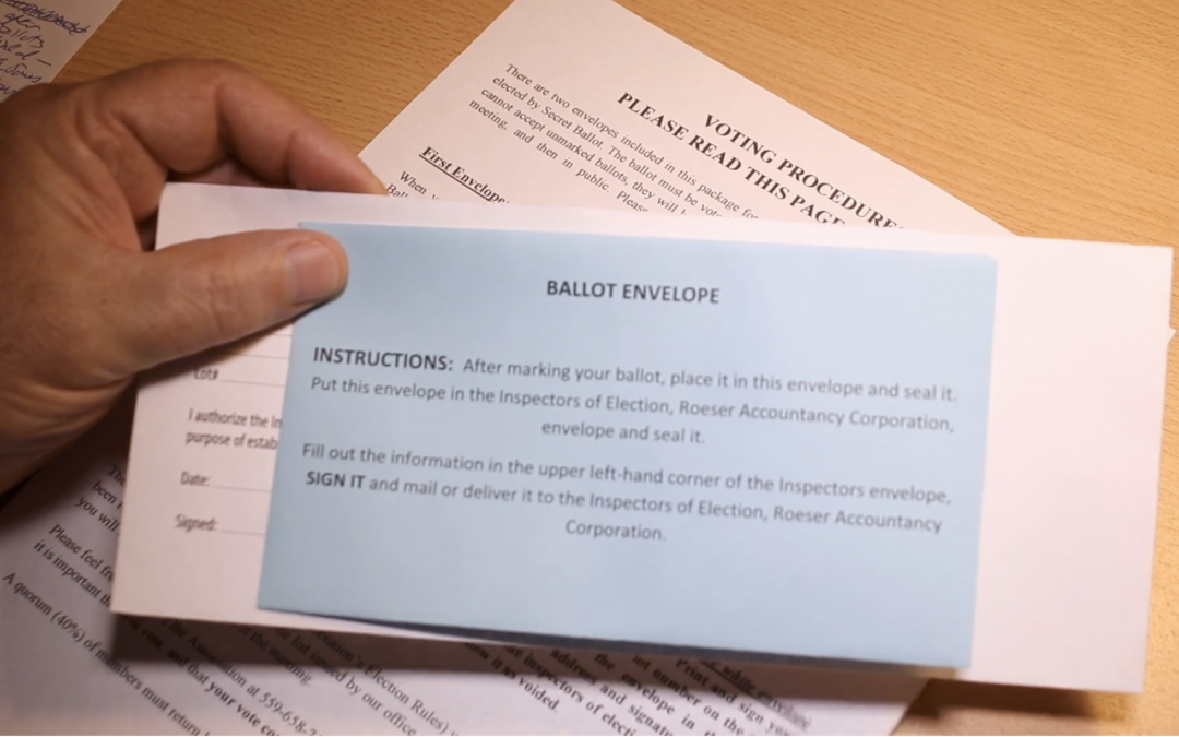 How to complete ballots